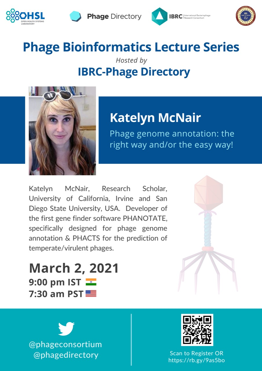 IBRC Lecture - Katelyn McNair (2nd March)